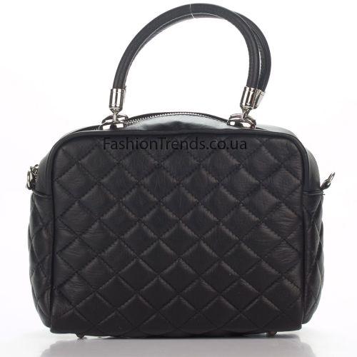 Кожаная сумка 1192 черная Италия