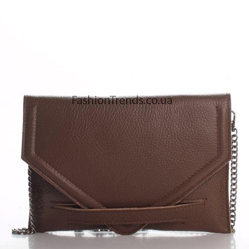 Кожаный клатч 1260 коричневый Италия