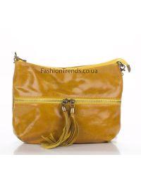 Кожаный клатч 1300 желтый Италия