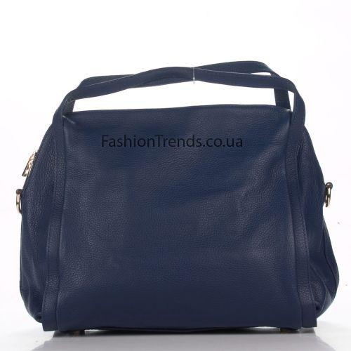Кожаная сумка 1773 синяя Италия