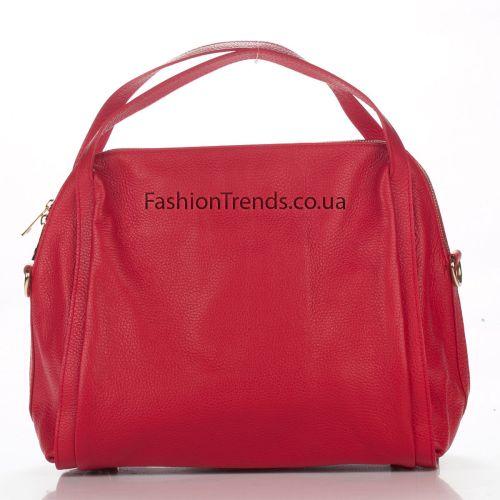 Кожаная сумка 1773 красная Италия