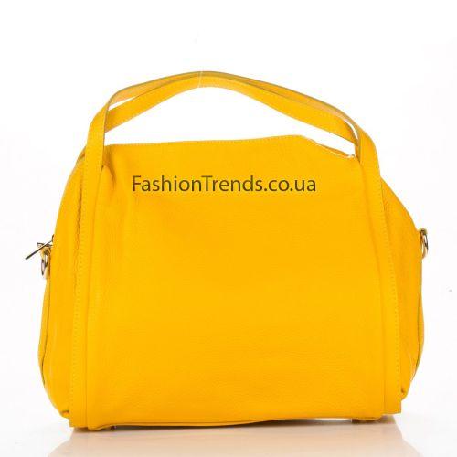 Кожаная сумка 1773 желтая Италия