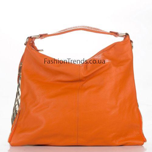 Кожаная сумка 1866 оранжевая Италия