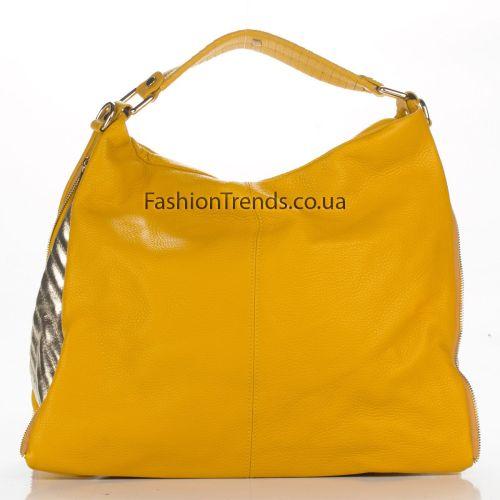 Кожаная сумка 1866 желтая Италия