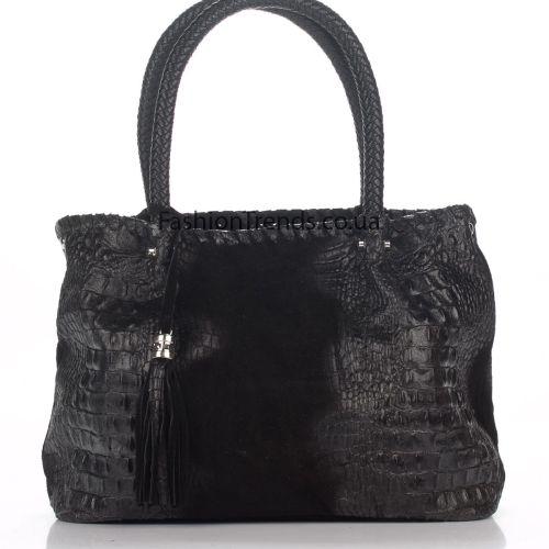 Кожаная сумка 1909 черная Италия
