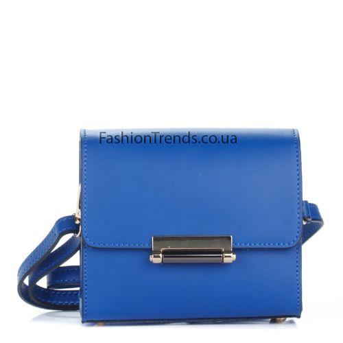 Кожаный клатч 1938 синий Италия