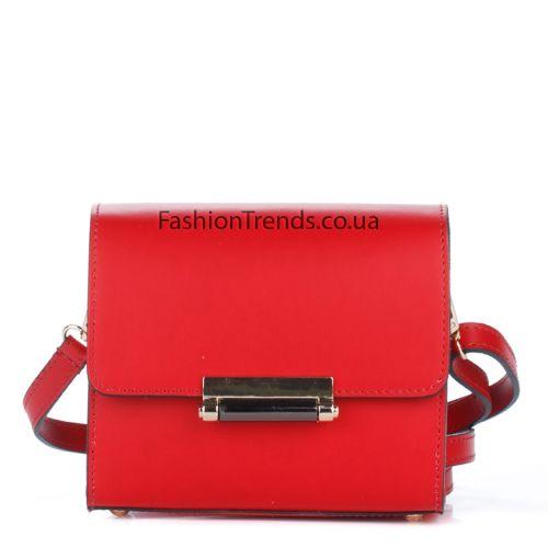 Кожаный клатч 1938 красный Италия