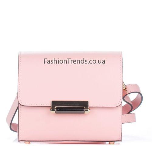 Кожаный клатч 1938 розовый Италия