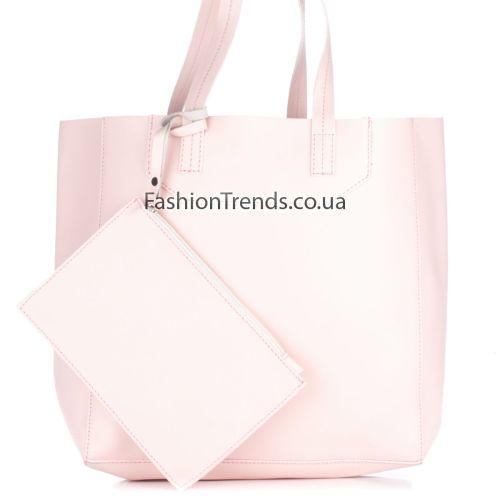 Кожаная сумка 3000 розовая Италия