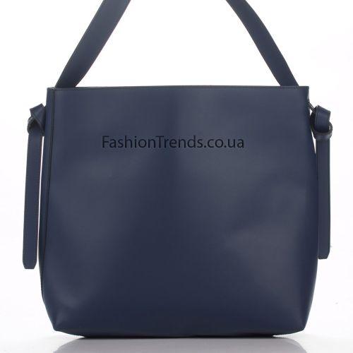 Кожаная сумка 3178 синяя Италия