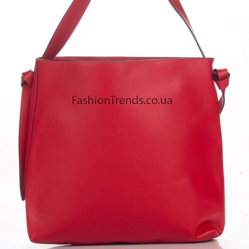 Кожаная сумка 3178 красная Италия