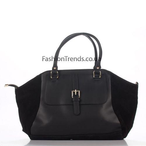 Кожаная сумка 3183 черная Италия