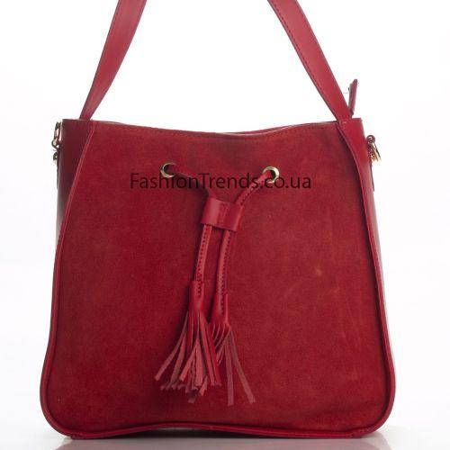 Замшевая сумка 3310 красная Италия