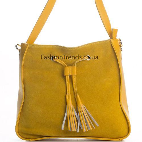 Замшевая сумка 3310 желтая Италия