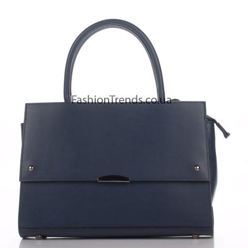 Кожаная сумка 8171 синяя Италия