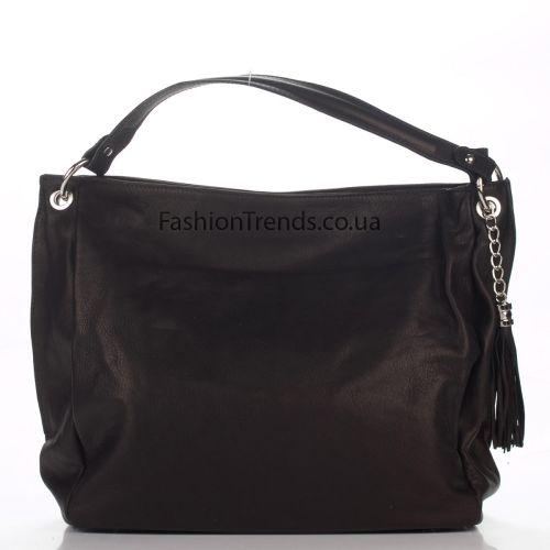 Кожаная сумка 8199 черная Италия