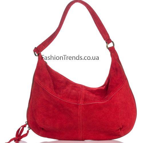 Замшевая сумка 8223 красная Италия
