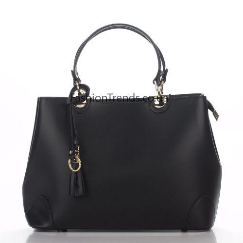 Кожаная сумка 8228 черная Италия