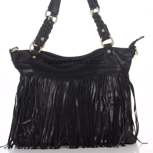 Замшевая сумка 8230 черная Италия