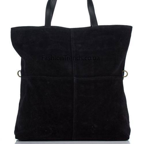 Замшевая сумка 8240 черная Италия