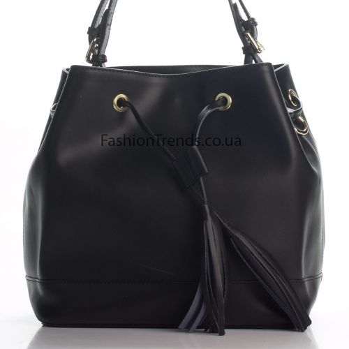 Кожаная сумка 8242-1 черная Италия