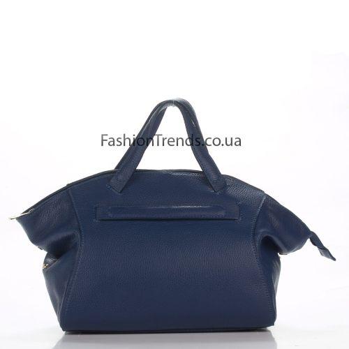 Кожаная сумка 8251 синяя Италия