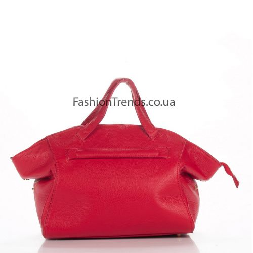 Кожаная сумка 8251 красная Италия