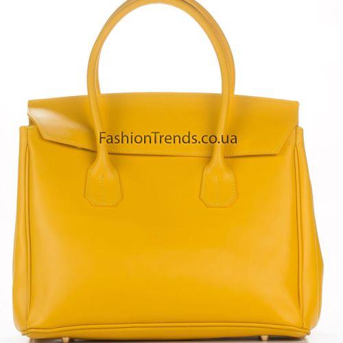 Кожаная сумка 8257 желтая Италия