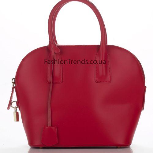 Кожаная сумка 8295 красная Италия