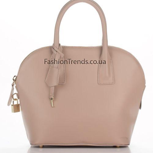 Кожаная сумка 8295 розовая Италия