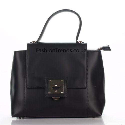 Кожаная сумка 8302 черная Италия
