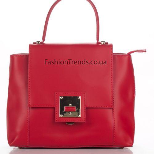 Кожаная сумка 8302 красная Италия