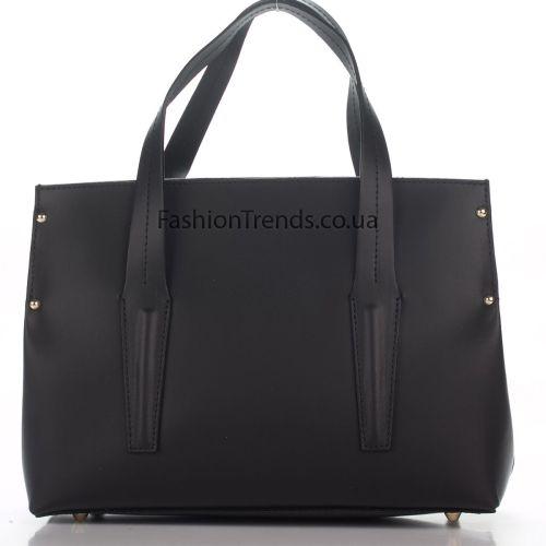 Кожаная сумка 8303 черная Италия