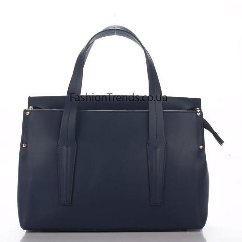 Кожаная сумка 8303 синяя Италия