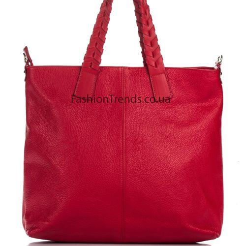Кожаная сумка 8311 красная Италия