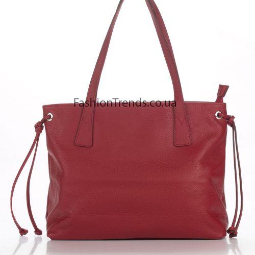 Кожаная сумка 8318 красная Италия