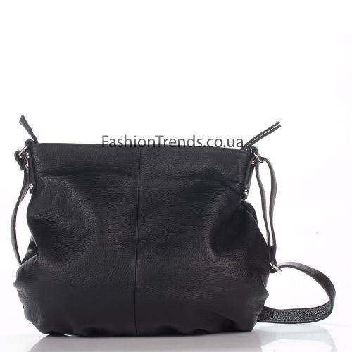 Кожаная сумка 8322 черная Италия