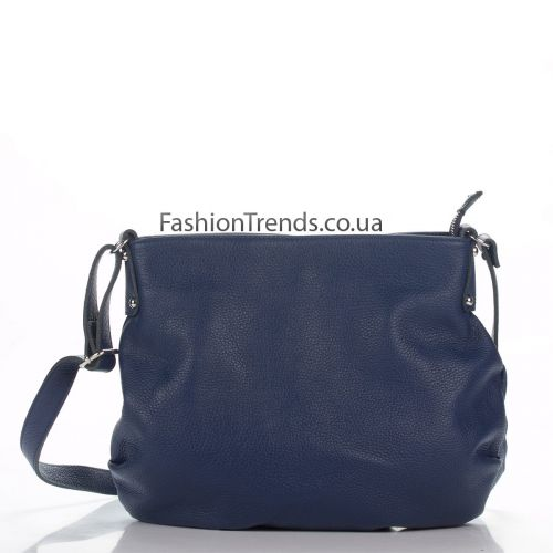 Кожаная сумка 8322 синяя Италия