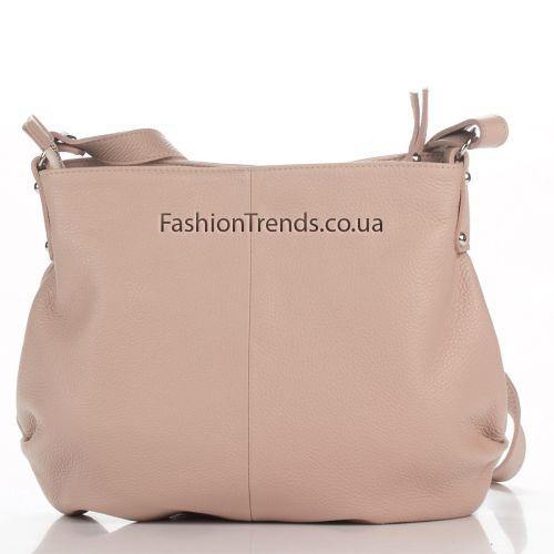 Кожаная сумка 8322 розовая Италия