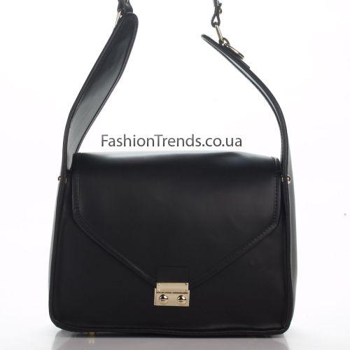 Кожаная сумка 8356 черная Италия