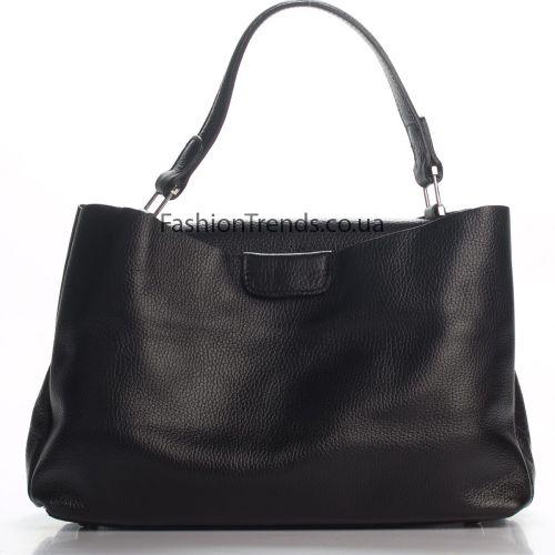 Кожаная сумка 974 черная Италия