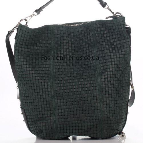 Кожаная сумка 975 зеленая Италия