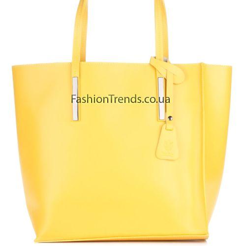 Кожаная сумка 992 желтая Италия
