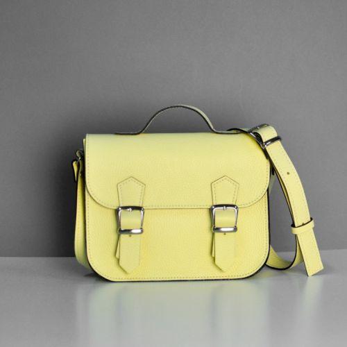 Женский кожаный клатч Jizuz Sathcel Mini Yellow