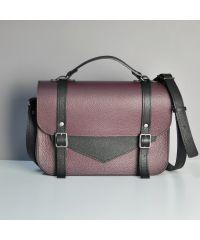 Женская кожаная сумка JIZUZ College satchel винная