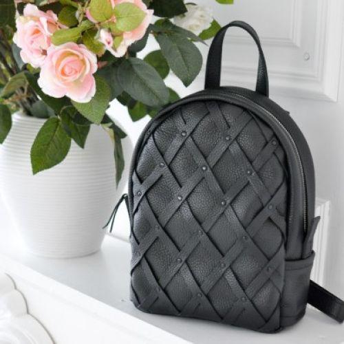 Женский кожаный рюкзак Archer Black черный