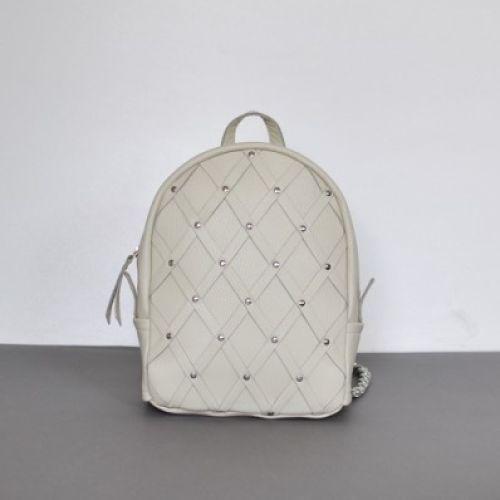 Женский кожаный рюкзак Archer Milk молочный