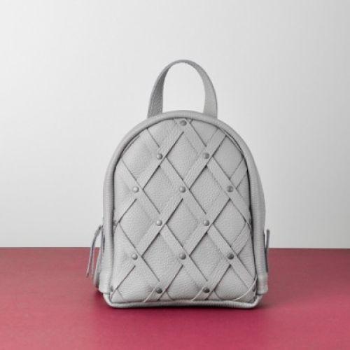 Женский кожаный рюкзак Baby Archer серый