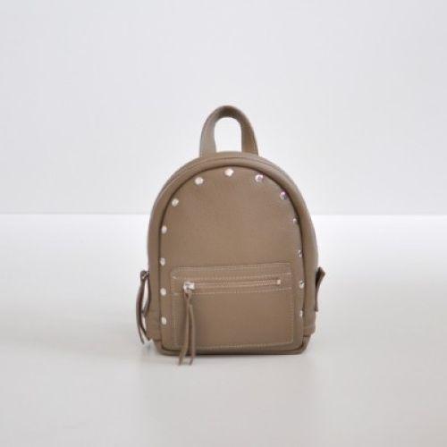 Женский кожаный рюкзак Baby Sport Beige бежевый