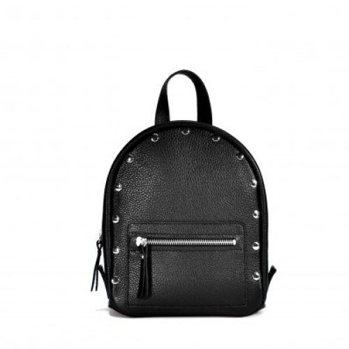 Женский кожаный рюкзак Baby Sport Black черный